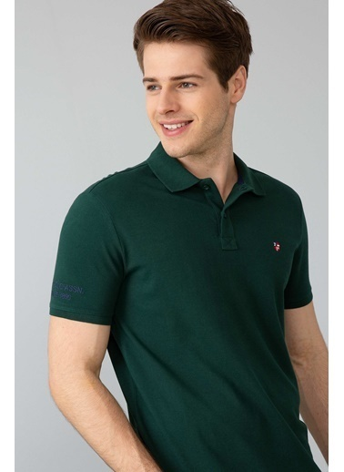 U.S. Polo Assn. Slim Fit Polo Yaka Tişört Yeşil